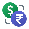 Dollar Rupee Exchange icon