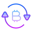 Exchange Bitcoin icon