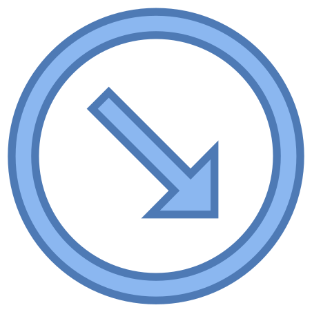 Circled Down Right 2 icon