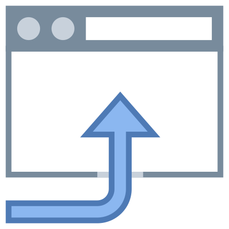 Open in Browser icon