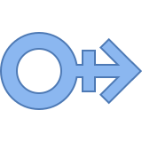 Male Stroke H icon