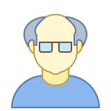 Person Old Male Skin Type 1 2 icon