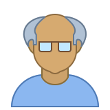Person Old Male Skin Type 5 icon