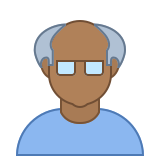Person Old Male Skin Type 6 icon