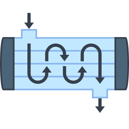 Shell and Tube Heat Exchanger icon