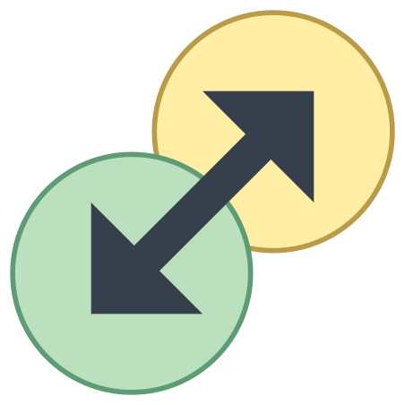 Transition Both Directions icon