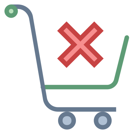 Clear Shopping Cart icon