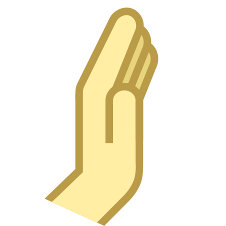 Hand Side View icon