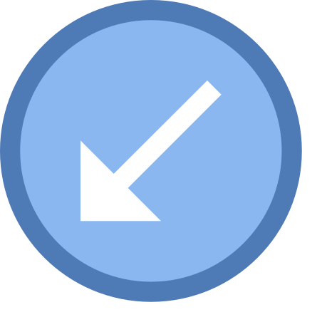 Circled Down Left icon