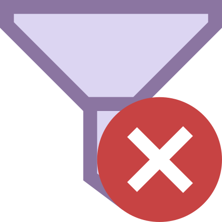 Clear Filters icon