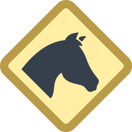 Horses Sign icon
