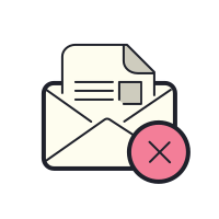 Delete Open Envelope icon