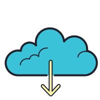 Download from the Cloud icon