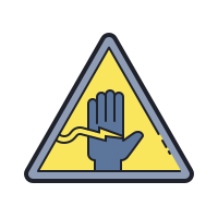 Electrical Shock Hazard icon
