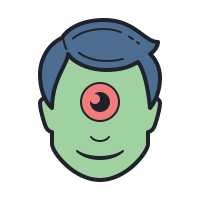 Halloween Cyclop Monster icon
