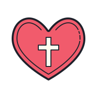 Heart Cross icon