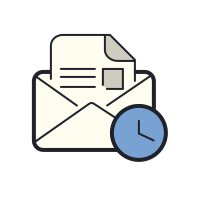 Open Envelope Clock icon
