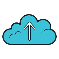 Upload to the Cloud icon