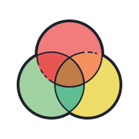 venn diagram icon