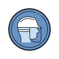 Wear Helmet And Face Shield icon