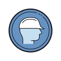Wear Safety Helmet icon