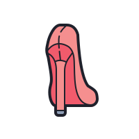 Women Shoe Back View icon