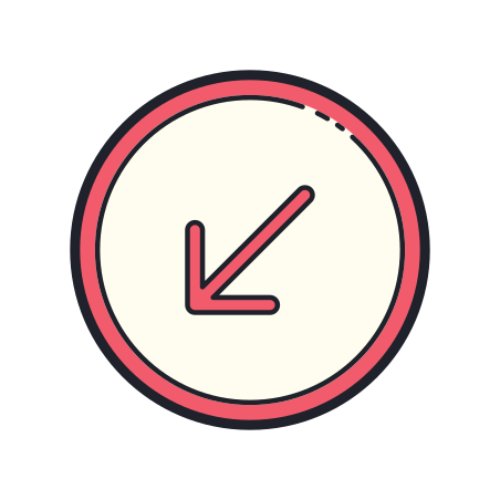 Circled Down Left 2 icon