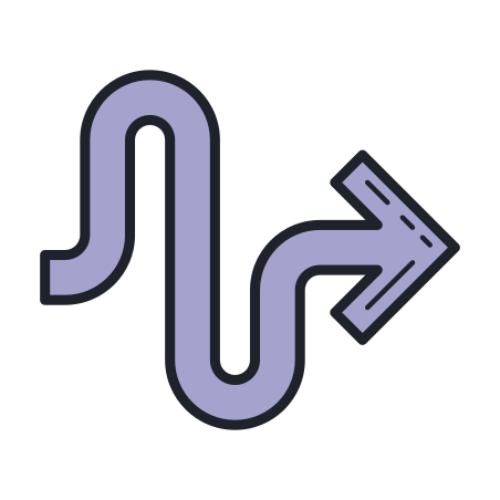 squiggly arrow icon