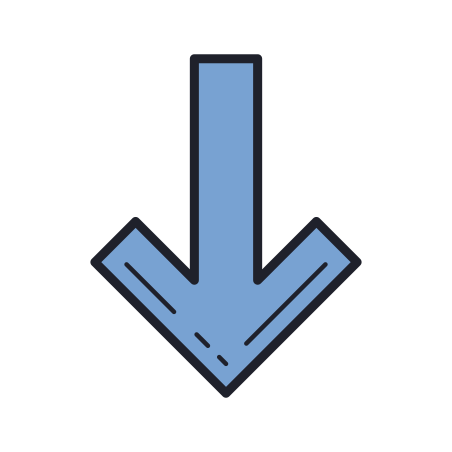 Thick Arrow Pointing Down icon